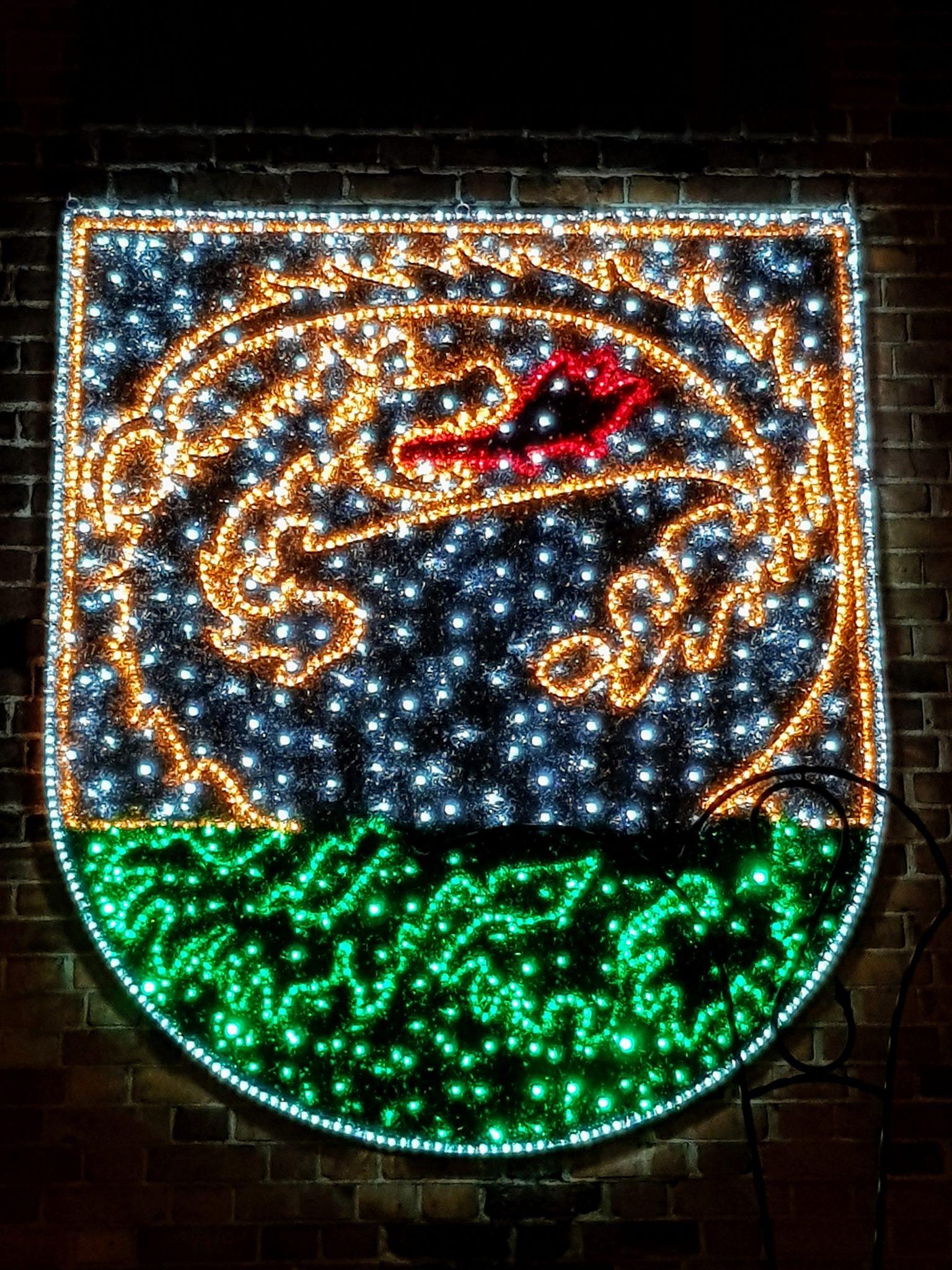 Herb miasta Orneta - neon