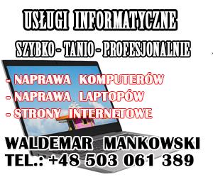 Waldemar Mańkowski - usługi informatyczne