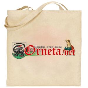 Torba Eko - Logo strony Orneta.net (ecru)